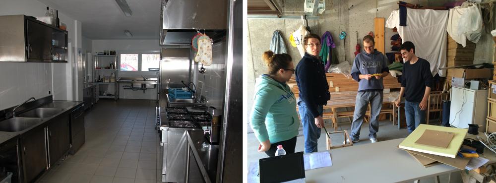 Cucina e laboratorio