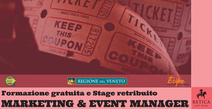 Corso e Stage MARKETING & EVENT MANAGER  (Under 30)