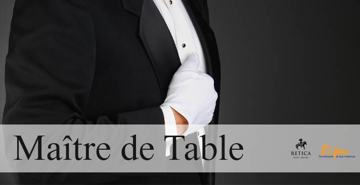 Corso di formazione e stage retribuito per un Maître de Table