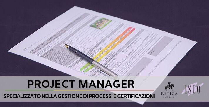Project Manager specializzato nella gestione delle certificazioni
